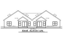 House Plan Design - Craftsman Exterior - Rear Elevation Plan #20-2435