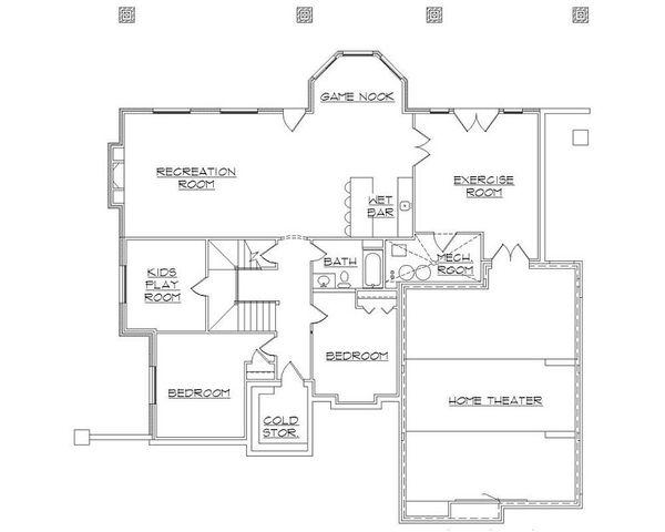 European Floor Plan - Lower Floor Plan Plan #5-402