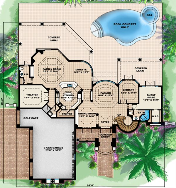 European Floor Plan - Main Floor Plan #27-431