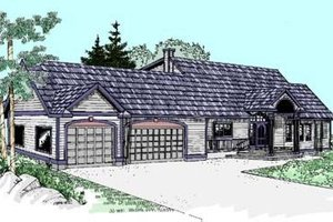 Traditional Exterior - Front Elevation Plan #60-277