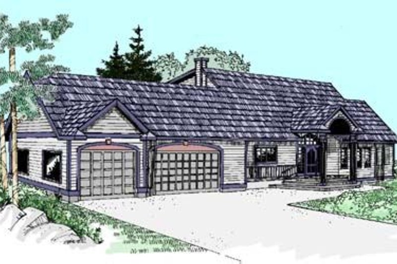 Traditional Style House Plan - 5 Beds 3 Baths 2338 Sq/Ft Plan #60-277 Exterior - Front Elevation