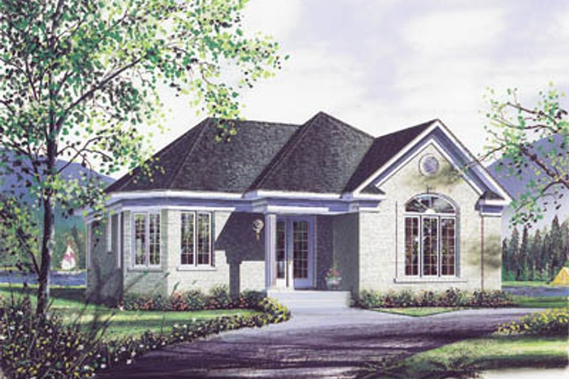 Home Plan - Modern Exterior - Front Elevation Plan #23-119