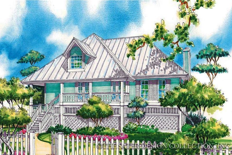 Architectural House Design - Country Exterior - Front Elevation Plan #930-31
