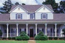 House Plan Design - Southern Exterior - Front Elevation Plan #45-164