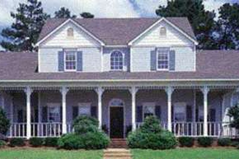 Southern Exterior - Front Elevation Plan #45-164