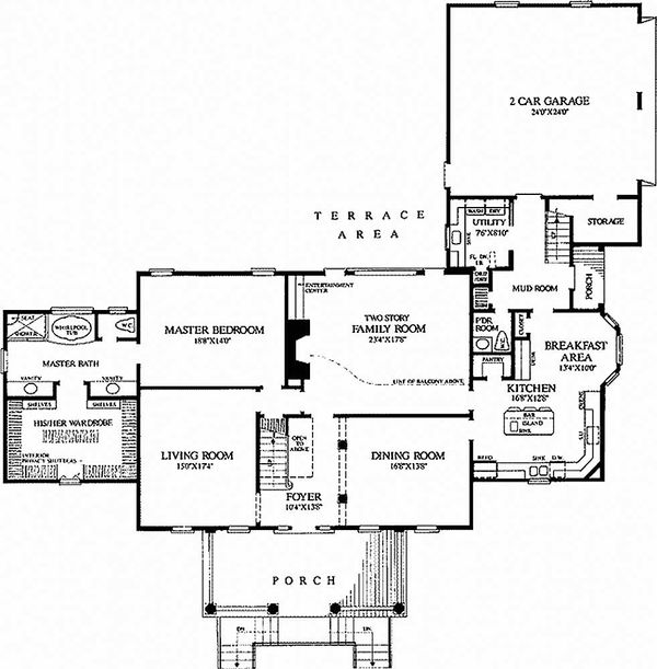 Country house plan farm home and building plan