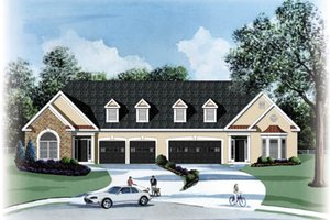 Traditional Exterior - Front Elevation Plan #26-124