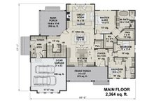 Farmhouse Floor Plan - Main Floor Plan Plan #51-1159