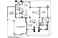 European Floor Plan - Main Floor Plan Plan #70-1179