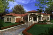 Mediterranean Style House Plan - 6 Beds 5 Baths 6095 Sq/Ft Plan #420-220 Exterior - Other Elevation