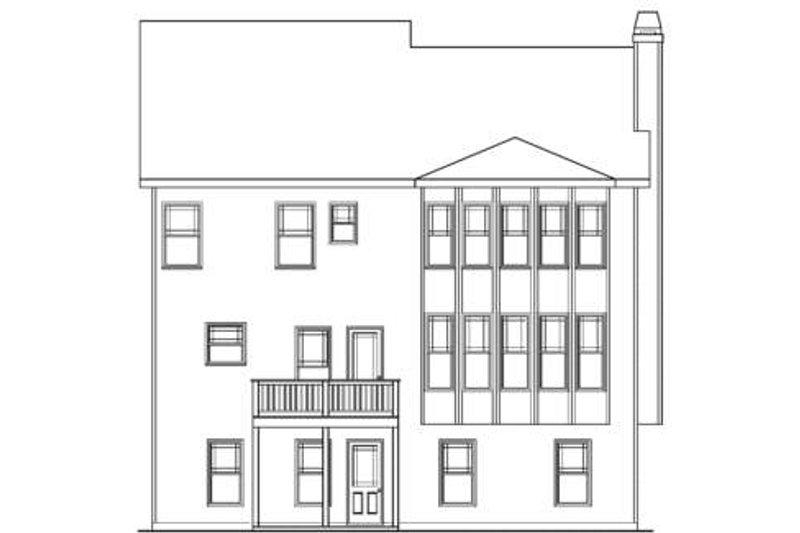 Craftsman Exterior - Rear Elevation Plan #419-202 - Houseplans.com
