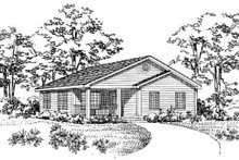 House Blueprint - Traditional Exterior - Other Elevation Plan #72-226