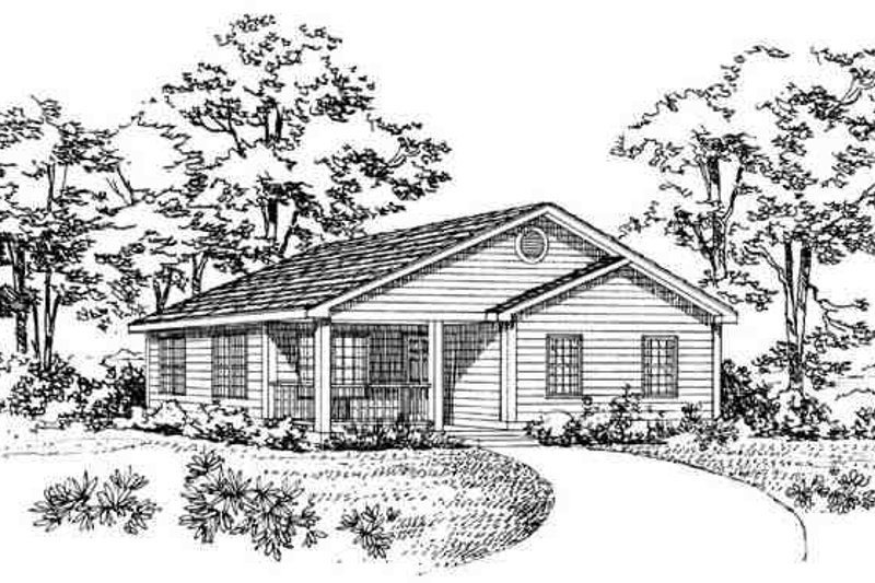 Traditional Exterior - Other Elevation Plan #72-226 - Houseplans.com