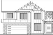 Craftsman Style House Plan - 4 Beds 2.5 Baths 2381 Sq/Ft Plan #1073-16 Exterior - Front Elevation