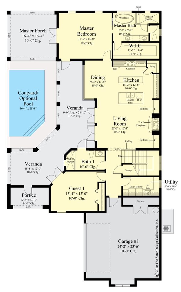 Contemporary Floor Plan - Main Floor Plan #930-521