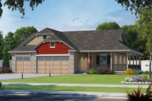 House Plan Design - Farmhouse Exterior - Front Elevation Plan #20-2444