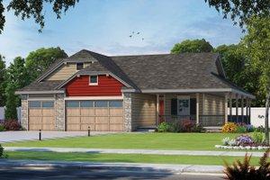 Farmhouse Exterior - Front Elevation Plan #20-2444