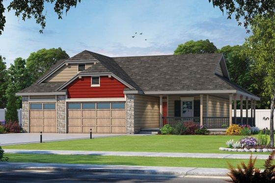 House Blueprint - Farmhouse Exterior - Front Elevation Plan #20-2444