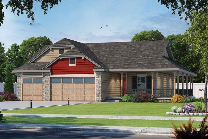 Dream House Plan - Farmhouse Exterior - Front Elevation Plan #20-2444
