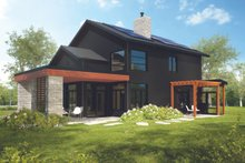 Dream House Plan - Modern Exterior - Rear Elevation Plan #23-2308