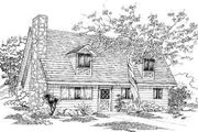 Colonial Style House Plan - 3 Beds 2 Baths 1350 Sq/Ft Plan #1-121