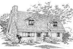 Colonial Exterior - Front Elevation Plan #1-121