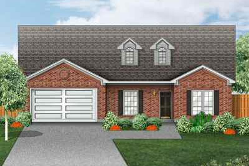 Traditional Style House Plan - 4 Beds 2 Baths 2037 Sq/Ft Plan #84-131 Exterior - Front Elevation