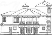 Beach Style House Plan - 3 Beds 3.5 Baths 2610 Sq/Ft Plan #115-146 Exterior - Rear Elevation
