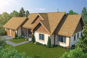 Ranch Style House Plan - 3 Beds 2 Baths 1416 Sq/Ft Plan #942-54 Exterior - Front Elevation