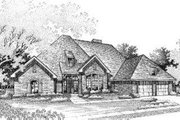 European Style House Plan - 3 Beds 2.5 Baths 2356 Sq/Ft Plan #310-141 Exterior - Front Elevation