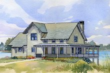 Home Plan - Cottage style home, elevation