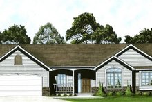 Home Plan - Traditional Exterior - Front Elevation Plan #58-176
