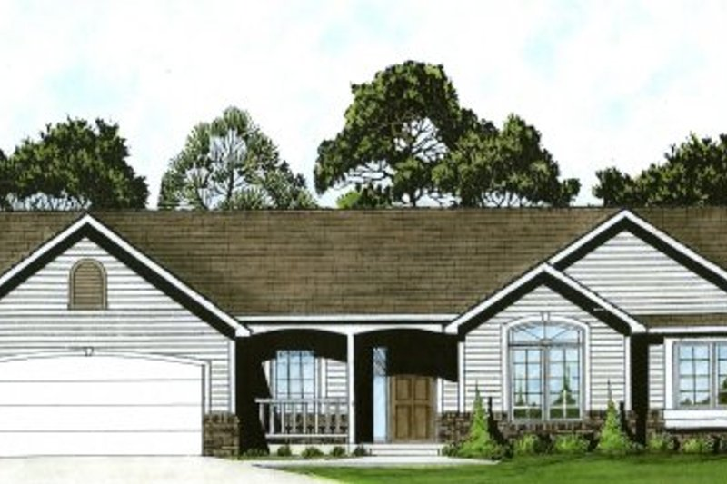 Traditional Exterior - Front Elevation Plan #58-176 - Houseplans.com