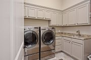 Mediterranean Style House Plan - 5 Beds 4 Baths 3585 Sq/Ft Plan #80-221 Interior - Laundry