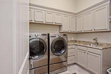 Architectural House Design - Mediterranean Interior - Laundry Plan #80-221