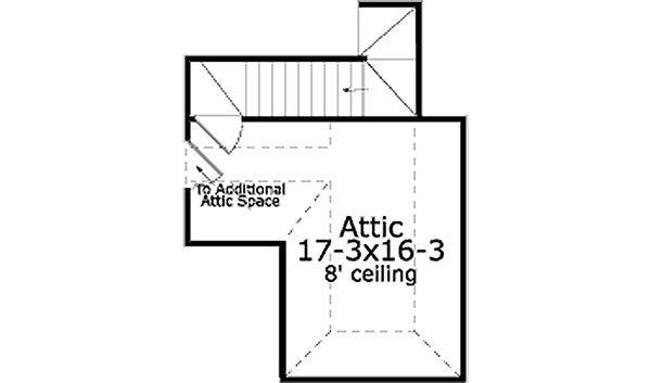 Southern Floor Plan - Upper Floor Plan Plan #406-9609