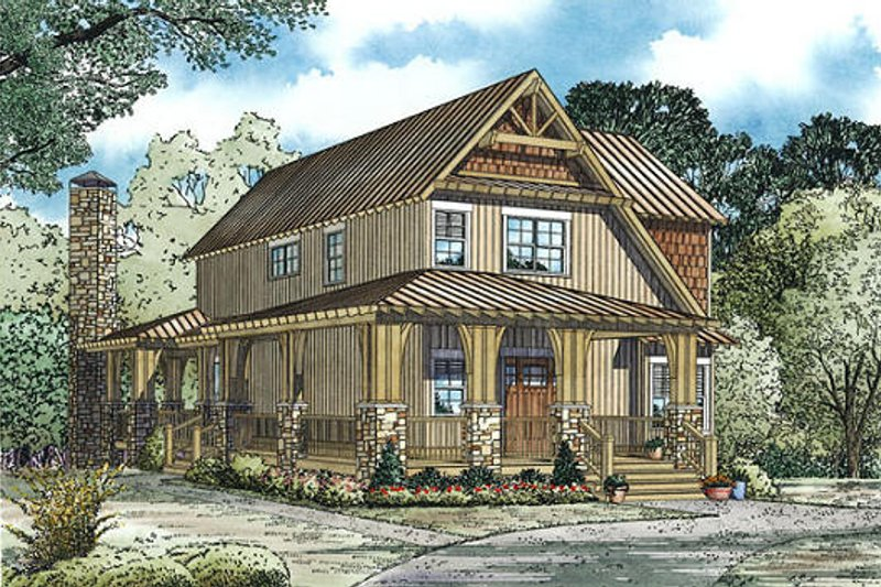 Dream House Plan - Country Exterior - Other Elevation Plan #17-2452