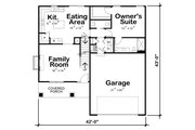 Craftsman Style House Plan - 4 Beds 3 Baths 1554 Sq/Ft Plan #20-2353 Floor Plan - Main Floor