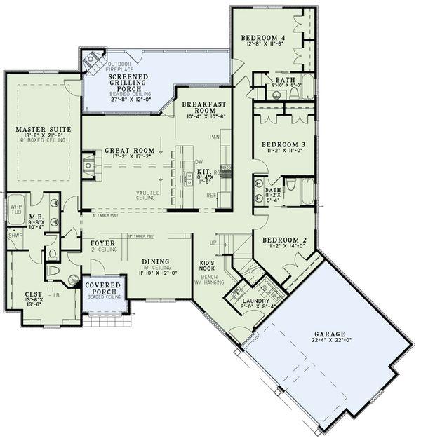 European Floor Plan - Main Floor Plan #17-2529
