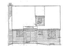 Southern Exterior - Rear Elevation Plan #3-112