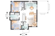 Modern Style House Plan - 2 Beds 1 Baths 992 Sq/Ft Plan #23-2661 Floor Plan - Main Floor