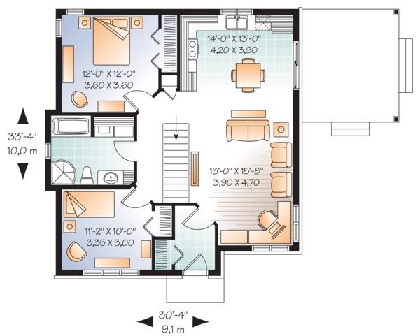 Modern Floor Plan - Main Floor Plan #23-2661