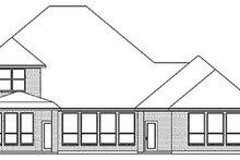 Dream House Plan - European Exterior - Rear Elevation Plan #84-256