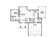 Ranch Floor Plan - Main Floor Plan Plan #928-283