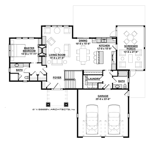 Ranch Floor Plan - Main Floor Plan Plan #928-283