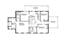 Colonial Floor Plan - Upper Floor Plan Plan #1016-100