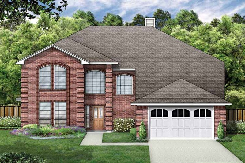 House Plan Design - Traditional Exterior - Front Elevation Plan #84-715