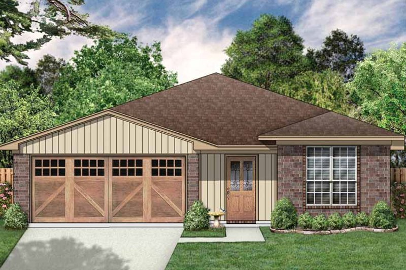 Traditional Exterior - Front Elevation Plan #84-670 - Houseplans.com