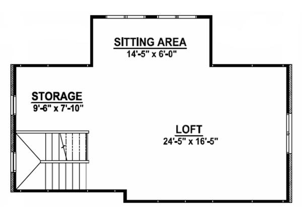 European Floor Plan - Upper Floor Plan Plan #1064-10