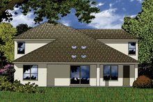 House Plan Design - Contemporary Exterior - Rear Elevation Plan #1015-49